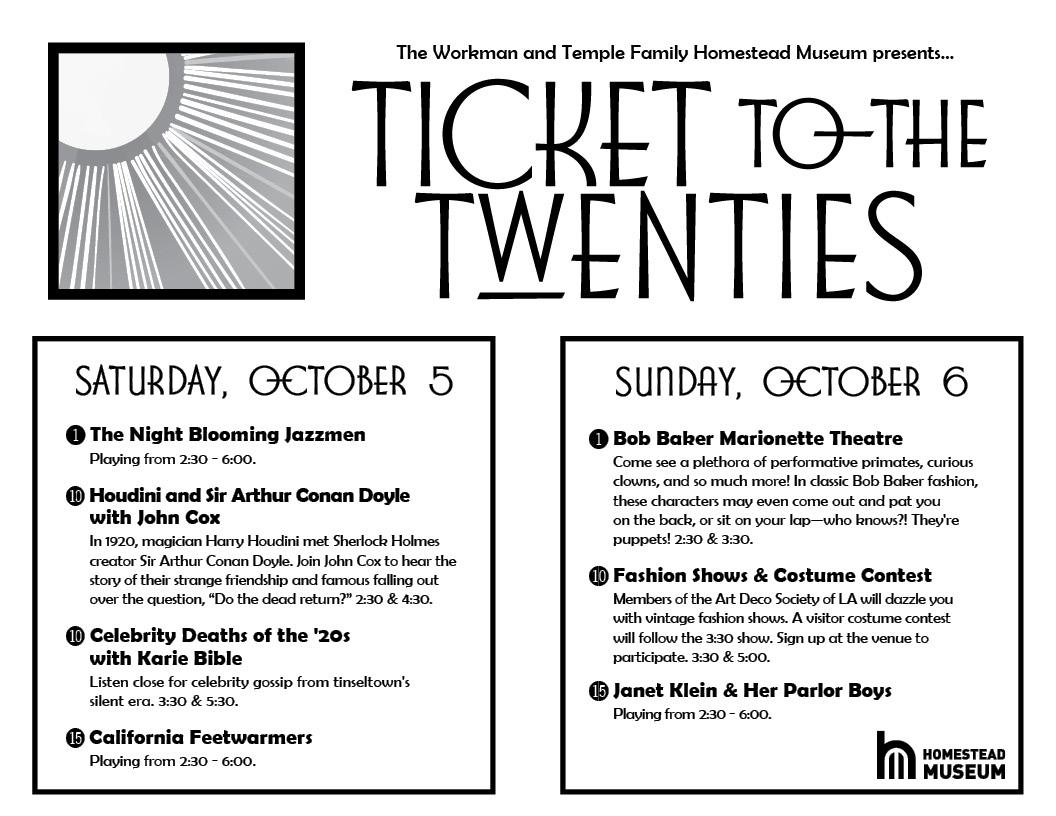 Ticket to the Twenties program 2019