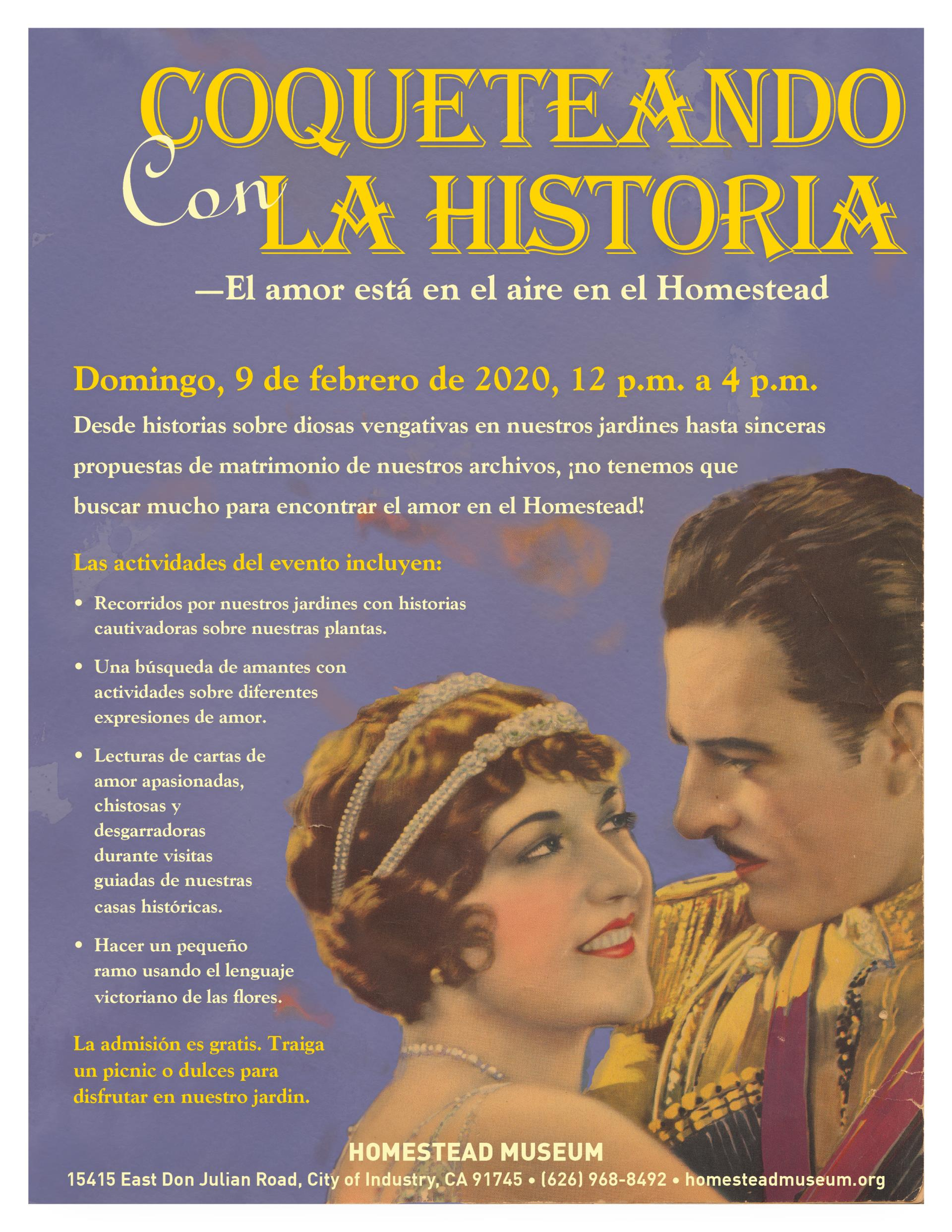 Flirting with History 2020 flyer espanol