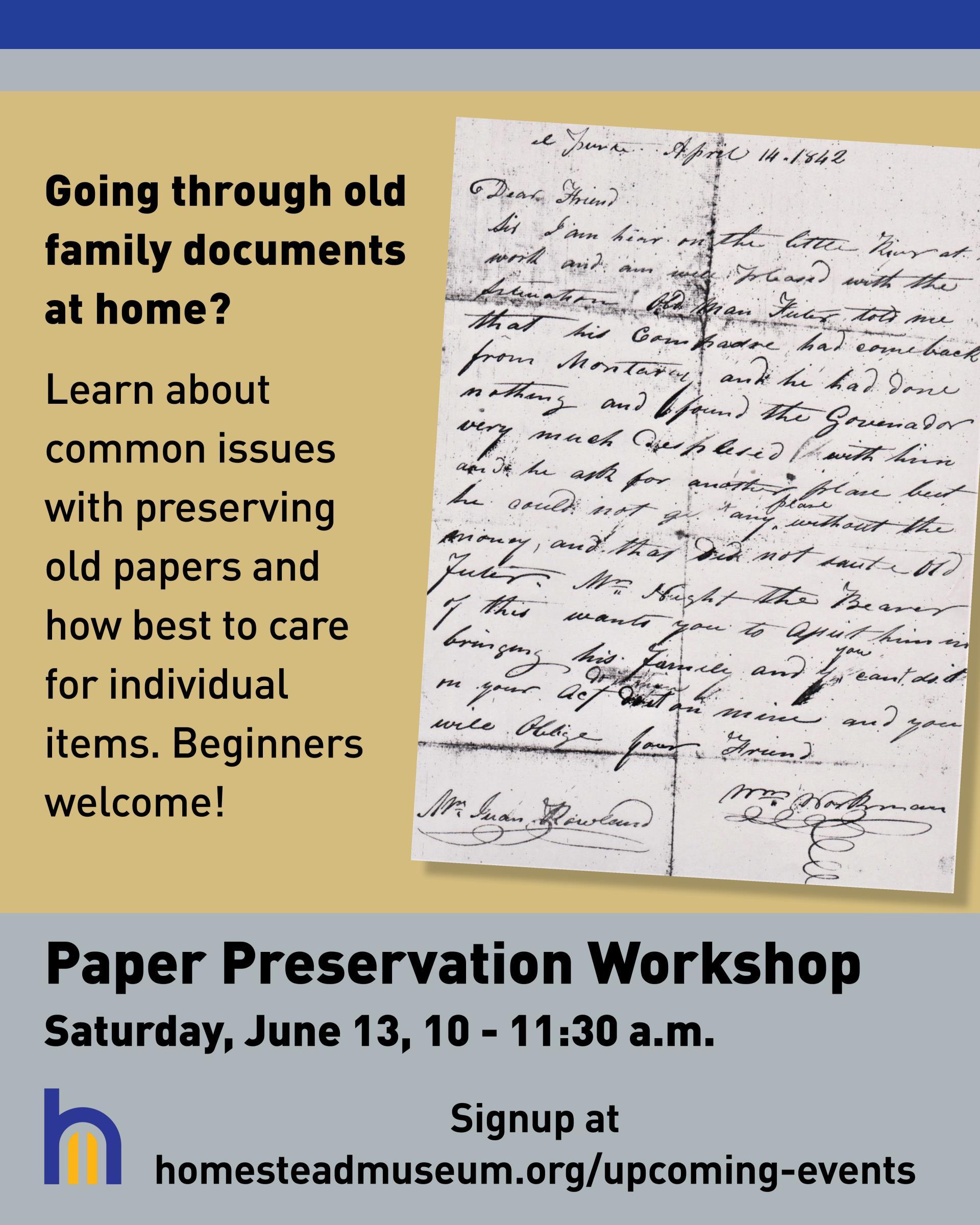 Paper Preservation Workshop June 2020 Virtual