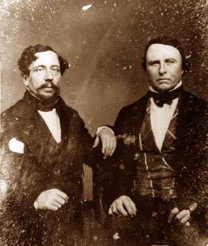 William Workman (right) and David Alexander, ca. 1851