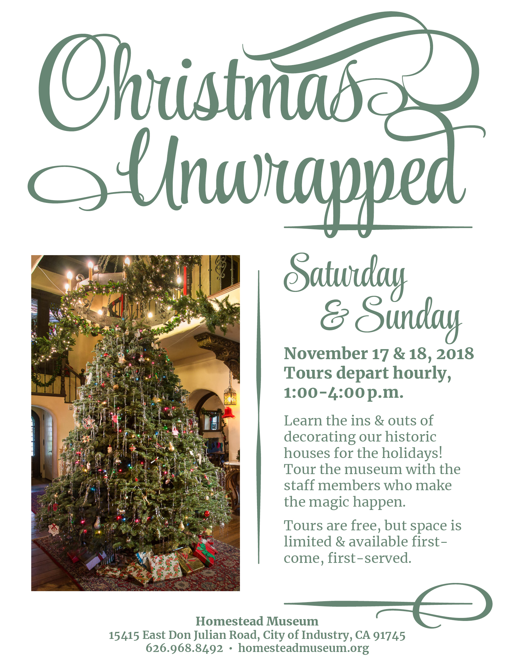 2018 Christmas Unwrapped flyer