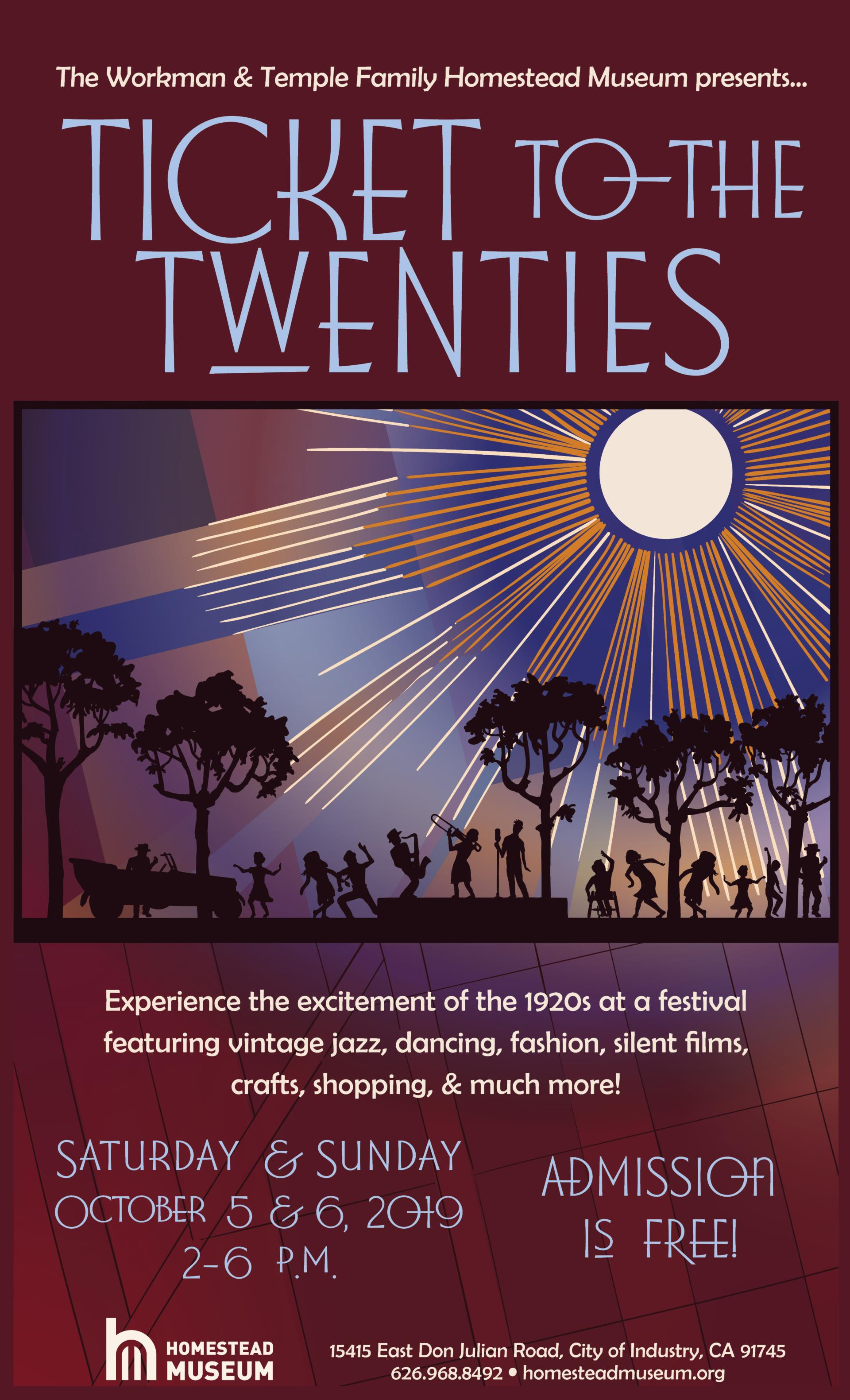 Ticket to the Twenties 2019 poster