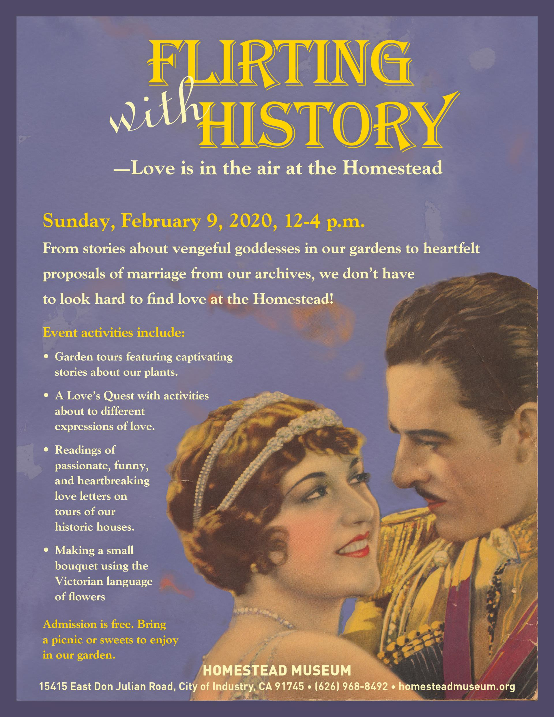 Flirting with History 2020 flyer
